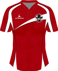 Dresden Hillbillies Laxfit Women's Rugby Playing Shirt Red/White Fast Delivery