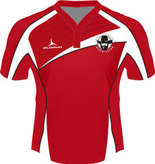 Dresden Hillbillies Laxfit Men's Rugby Playing Shirt Red/White