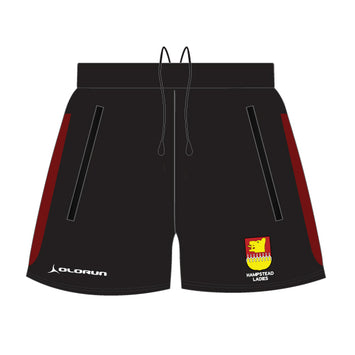 Hampstead RFC Women's Tempo Leisure Shorts Black/Burgundy
