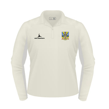 Laugharne Athletic CC Kid's Olorun Cricket Long Sleeve Polo Shirt
