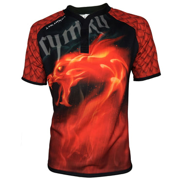 Olorun Kid's Wales Dragon Inferno Rugby Shirt