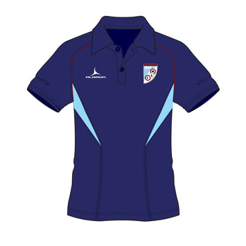 Mersham Sports Club Adult's Flux Polo Shirt - Navy/Sky/Burgundy