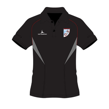 Mersham Sports Club Kid's Flux Polo Shirt - Black/Grey/Burgundy