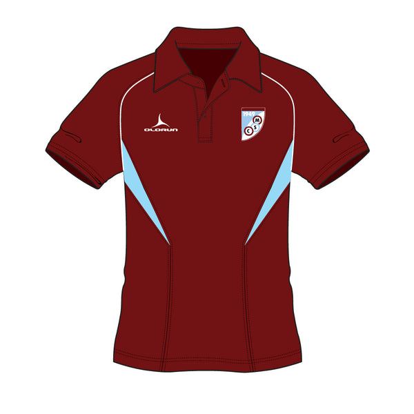 Mersham Sports Club Adult's Flux Polo Shirt - Burgundy/Sky/White