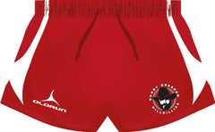 Dresden Hillbillies Kid's Rugby Playing Shorts Red/Black Fast Delivery