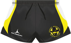 Dresden Hillbillies Adult's Rugby Playing Shorts Yellow/Black