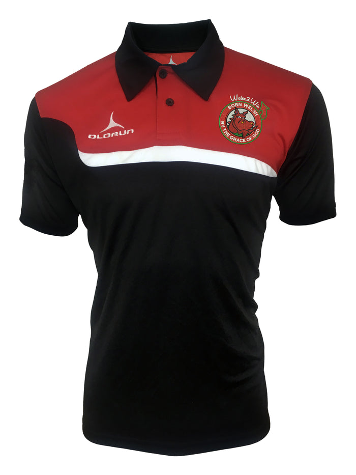 Olorun 'Wales 2 Win' Adult's Tempo Polo Shirt