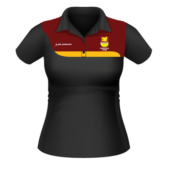 Hampstead RFC Women's Tempo Polo - Black/Burgundy/Amber