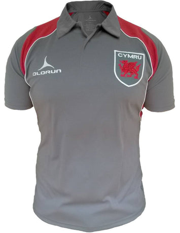 Olorun Retro Wales Rugby Polo Shirt (Fast Delivery)