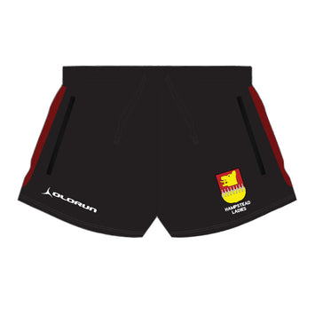 Hampstead RFC Women's Tempo Rugby Shorts - Black/Burgundy