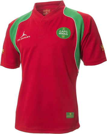 Official Royal Welsh Olorun Kids' Short Sleeve Rugby Shirt