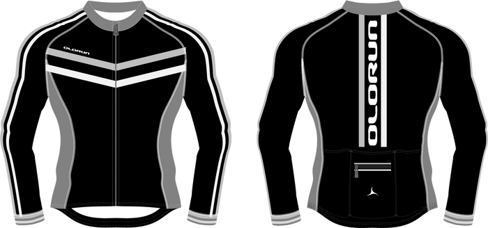 Olorun Velodrome Full Zip Men's Long Sleeve Cycling Jersey