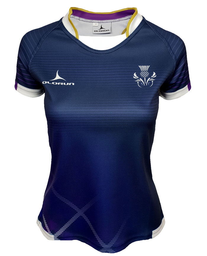 Women's Olorun Scotland Contour Home Nations Rugby Shirt