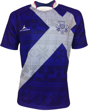 Olorun Scotland 'Saltire' Christmas Rugby Shirt