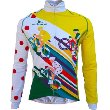 Olorun Grand Tourer (France Tour) Full Zip Long Sleeve Cycling Jersey (Fast Delivery)