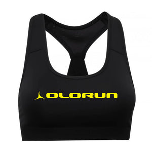 Olorun Activ Performance Sports Bra - Black Yellow