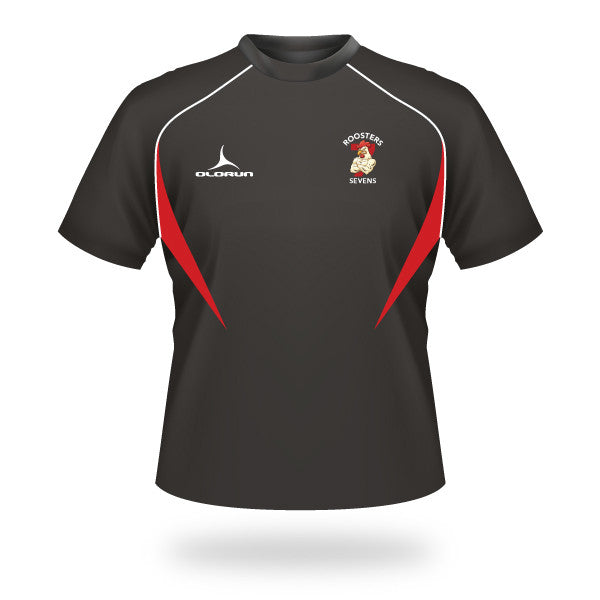 Roosters 7's Flux T-Shirt - Black/Red/White