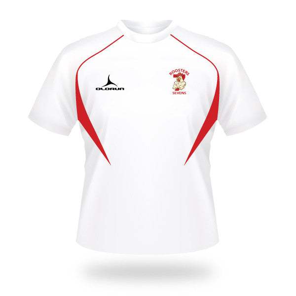 Roosters 7's Flux T-Shirt - White/Red/Red
