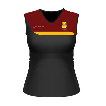 Hampstead RFC Adult Women's Tempo Vest Black/Burgundy/Amber