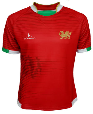 Olorun Contour Wales Home Nations Rugby Shirt ( Home Design - Red )