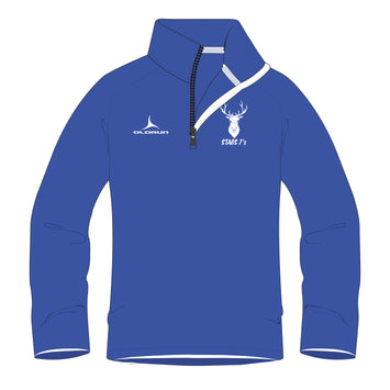 Stags 7's 1/4 Zip Midlayer  - Royal Blue/White