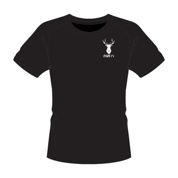 Stags 7's Sports T-Shirt - Black