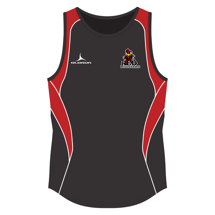 Red Roosters 7's Iconic Vest - Black/Red/White