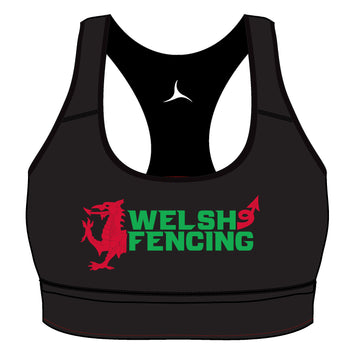 Welsh Fencing Sports Bra - Jet Black