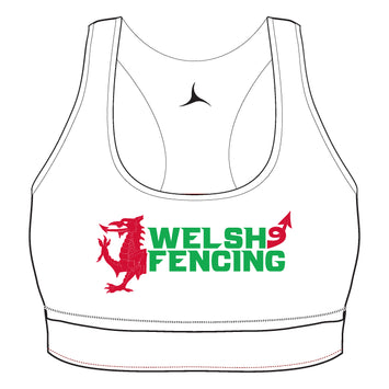 Welsh Fencing Sports Bra - Arctic White