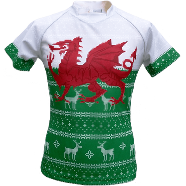 Wales Men's Christmas Rugby Shirt (Fast Delivery)