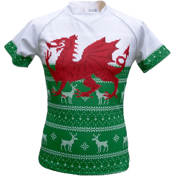 Wales Women's Christmas Rugby Shirt (Fast Delivery)