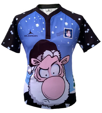 Bad Santa Olorun Men's Christmas Rugby Shirt