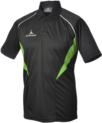 Olorun Flux Polo Shirt  Black/Emerald/White (Fast Delivery)