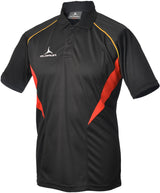 Olorun Flux Polo Shirt  Black/Red/Amber (Fast Delivery)
