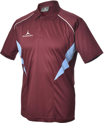 Olorun Flux Polo Shirt Burgundy/Sky/White (Fast Delivery)