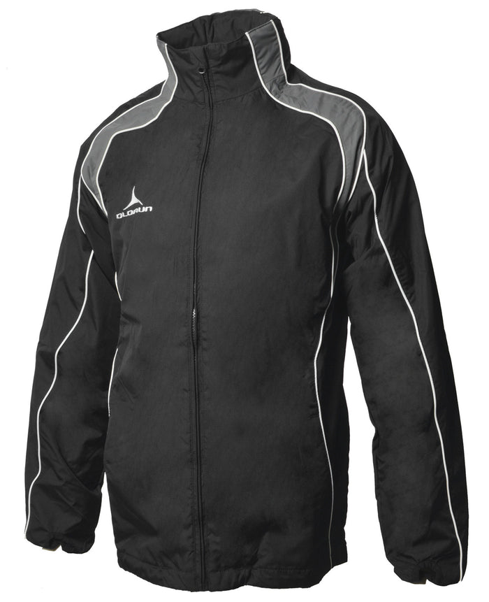 Olorun Adult's Iconic Full Zip Jacket - Black/Grey/White