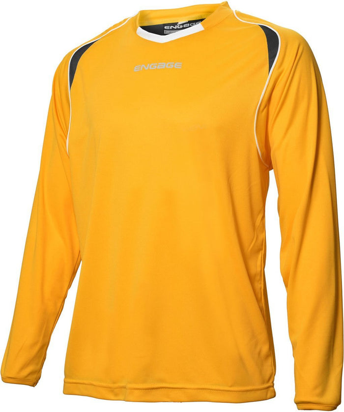 Engage Premium Football Shirt Amber/Black/White (Fast Delivery)