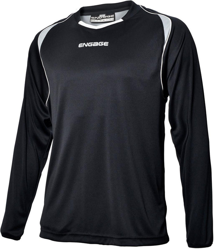 Engage Premium Football Shirt Black/Silver/White (Fast Delivery)