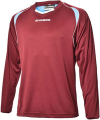 Engage Premium Kids' Football Shirt Claret/Sky/White (Fast Delivery)