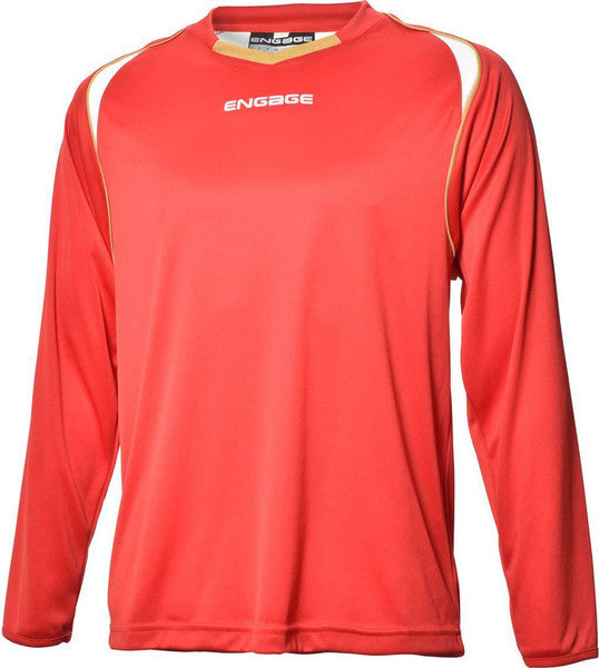 Engage Premium Kids' Football Shirt Red/White/Bronze (Fast Delivery)