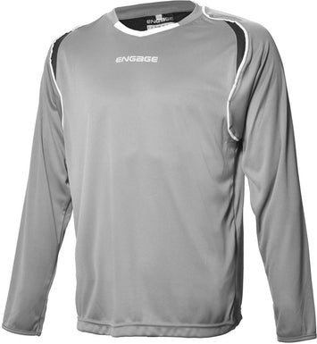 Engage Premium Football Shirt Silver/Black/White (Fast Delivery)