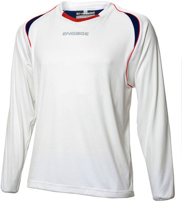 Engage Premium Kids' Football Shirt White/Navy/Red (Fast Delivery)