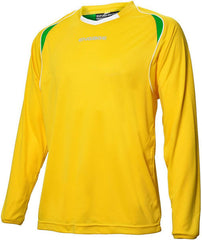 Engage Premium Kids' Football Shirt Yellow/Emerald/White (Fast Delivery)