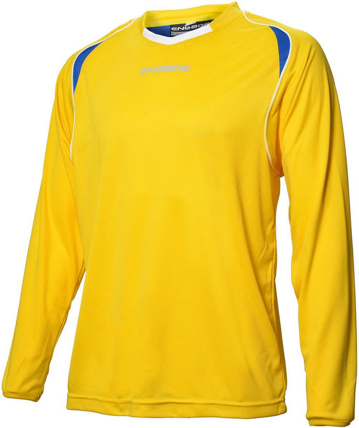 Engage Premium Football Shirt Yellow/Royal/White (Fast Delivery)