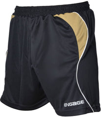 Engage Premium Kids' Football Shorts Black/Bronze/White (Fast Delivery)
