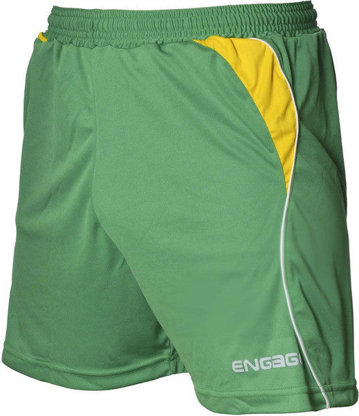 Engage Premium Kids' Football Shorts Emerald/Yellow/White (Fast Delivery)