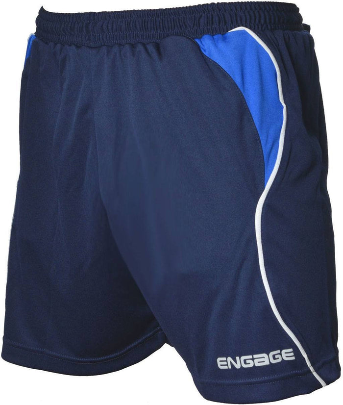 Engage Premium Kids' Football Shorts Navy/Royal/White (Fast Delivery)