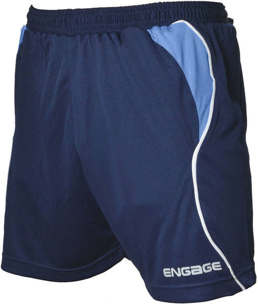 Engage Premium Kids' Football Shorts Navy/Sky/White (Fast Delivery)