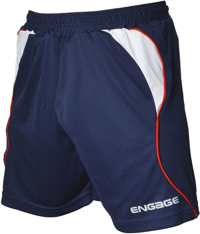 Engage Premium Football Shorts Navy/White/Red (Fast Delivery)