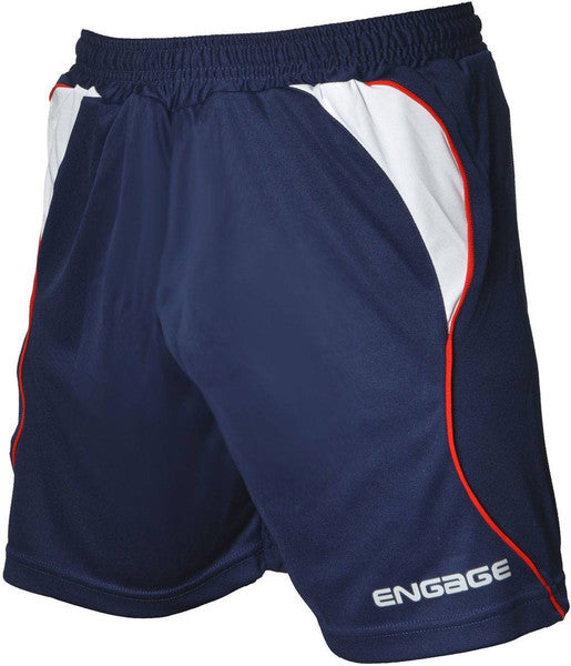 Engage Premium Kids' Football Shorts Navy/White/Red (Fast Delivery)